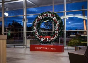 Indooroopilly shopping centre Christmas wreath