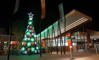 Wetherhill Park shopping centre outdoor christmas tree
