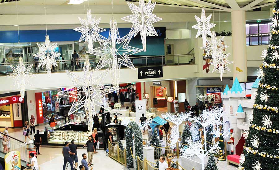 Banstown Central Christmas Mall Decorations